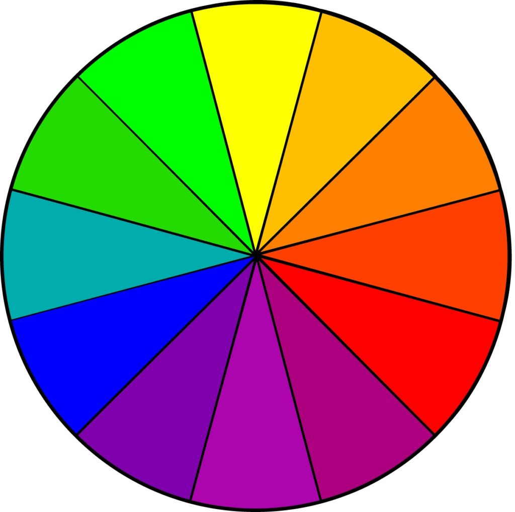 Primary Color Wheel Chart